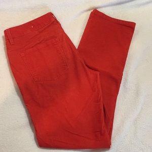 Loft Modern Straight red corduroy pant